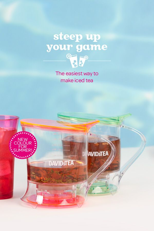 Steep your iced tea game up this summer with our 36oz Steeper. Now in bright lime and neon pink!