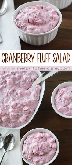 This Creamy Cranberry Fluff Christmas Salad is a delicious and fun holiday side dish.