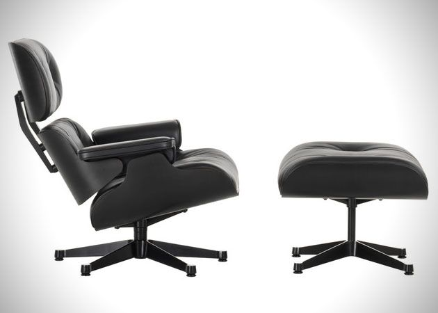 Vitra Eames Lounge Chair And Ottoman Black