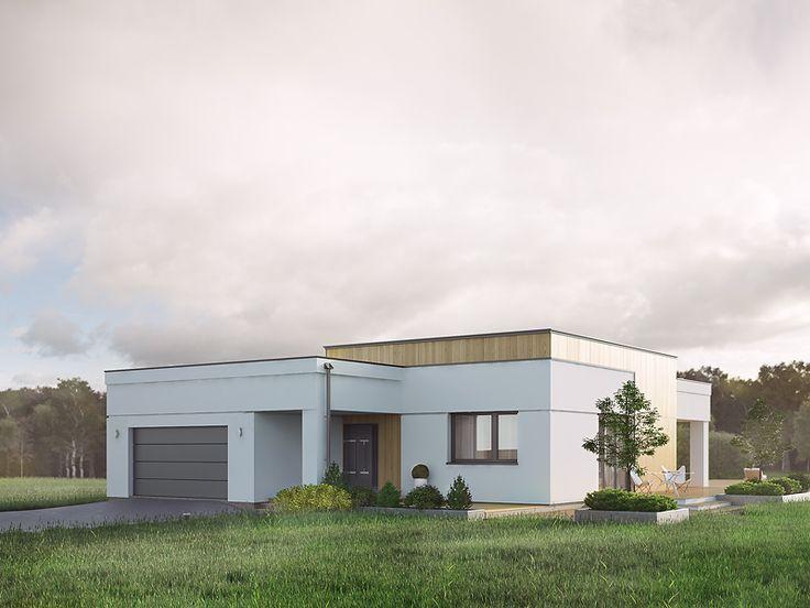 Alibi (128,35 m2) to nowoczesny projekt domu parterowego z płaskim dachem i licznymi tarasami. Pełna prezentacja projektu znajduje się na stronie: https://www.domywstylu.pl/projekt-domu-alibi.php. #aalibi #projekty #projekt #gotowe #typowe #domy #domywstylu #mtmstyl #home #houses #architektura #interiors #insides #wnętrza #aranżacje
