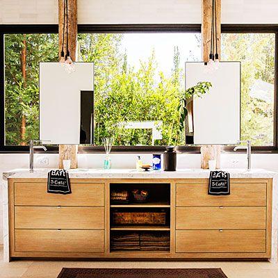 25 Best Bathroom With Vanity Under Window Images On