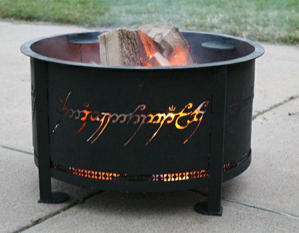 außenbereich gestalten ideen feuerstellen metall