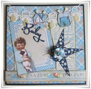 Scrapbook Funs blog: Et Babykort.