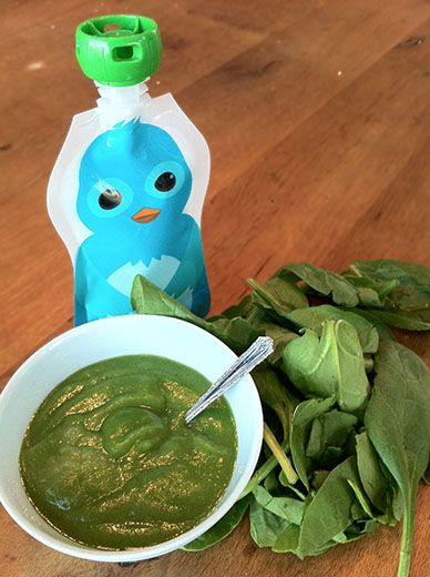 The easiest way to get your kids to eat spinach for lunch!  Try this Green…