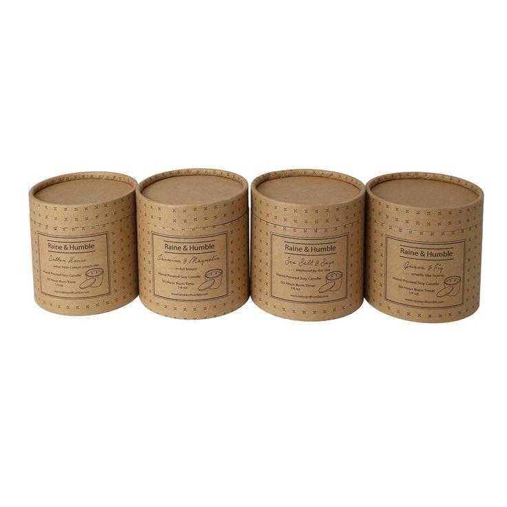 #ceramic #candles in 4 fresh  #fragrances