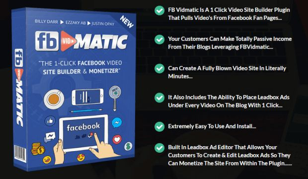 Fb Vidmatic Pro Software By Billy Darr is Best WordPress Plugin Which Allows You To Pull All Viral Video Contents From Facebook To Your Own Sites, Increasing Your Ranking, Driving Huge Traffic And Skyrocketing Your Sales. You'll get the leverage because Google is always bias the friendly content from FB, your sites will be put on top search results.  #FBvidmatic #facebookmarketing #facebook #marketing #affiliate #CPA #internetmarketing