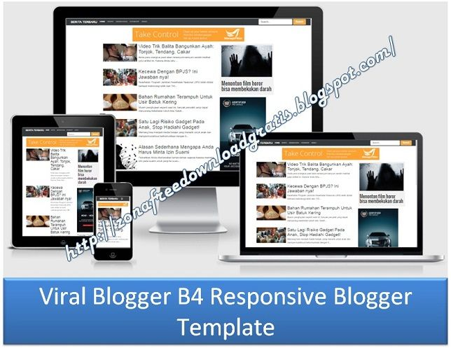 Viral Blogger B4 Responsive Blogger Template. More template see at http://zonafreedownloadgratis.blogspot.com