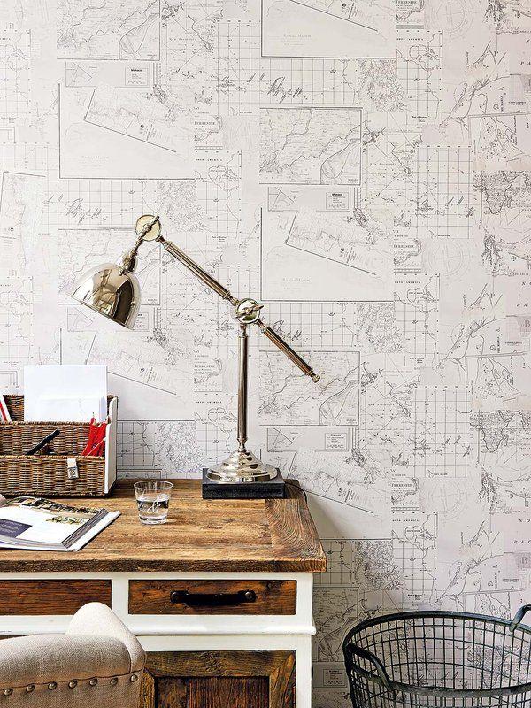 Papel de collage de mapas