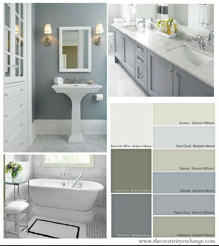 Beautiful bathroom colors home colours pinterest What color to paint bathroom with gray tile