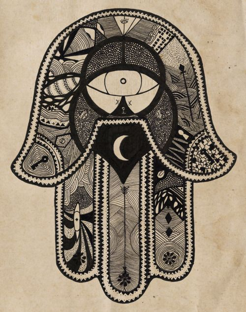 hamsa/hand of fatima: provides defense against the evil eye & represents blessings, power and strength.