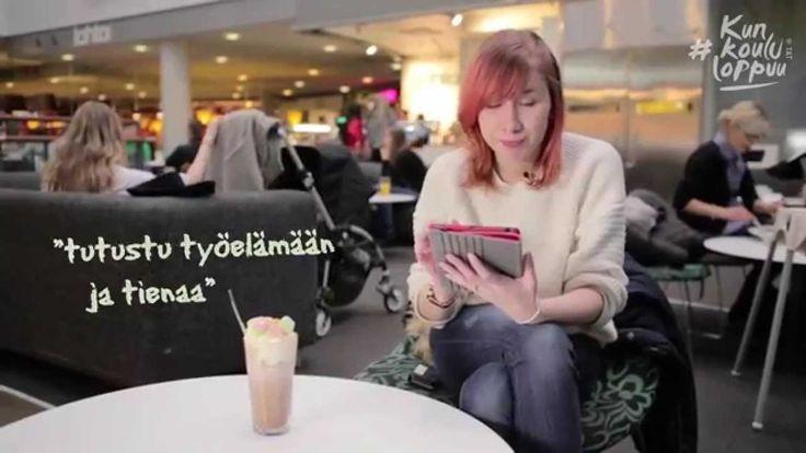 Osa 1: Mistä löytää kesätöitä? Miina Laukkanen (es. Milka Suonpää) on 17-vuotias nuori, joka on vailla kesätöitä. Seuraamalla Miinan elämää saat itsekin vinkkejä kesätyön löytämiseen.  Kuvaus ja ohjaus: Matti Poutanen, editointi: Kristian Eloluoto, käsikirjoitus, ohjaus ja tuotanto: Anne-Mari Rajala / Taloudellinen tiedotustoimisto TAT.  Lisätietoja: www.kunkoululoppuu.fi