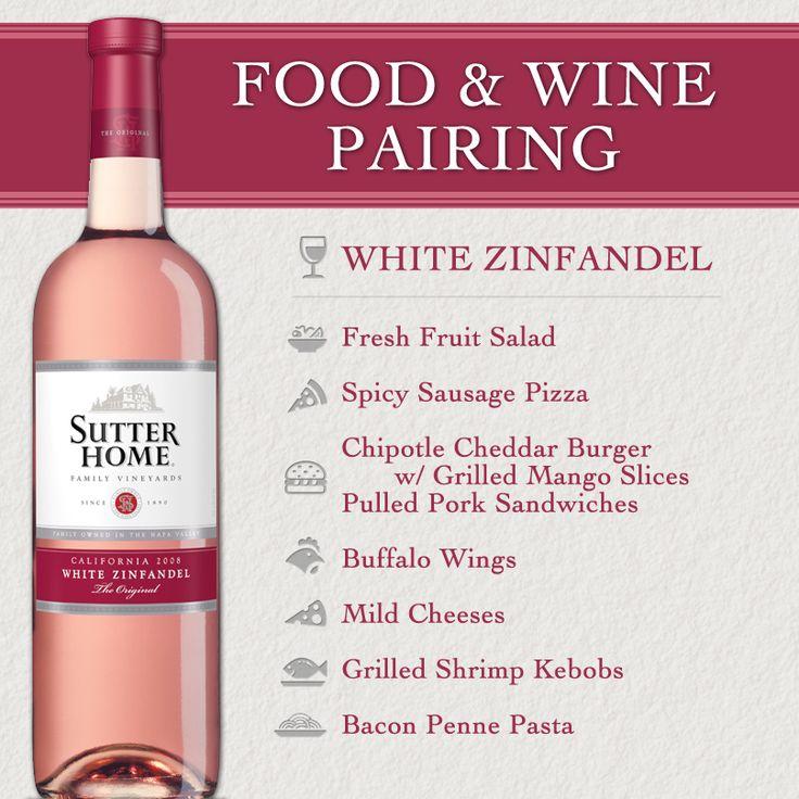 Sutter Home Wine & Food Pairing Series: White Zinfandel