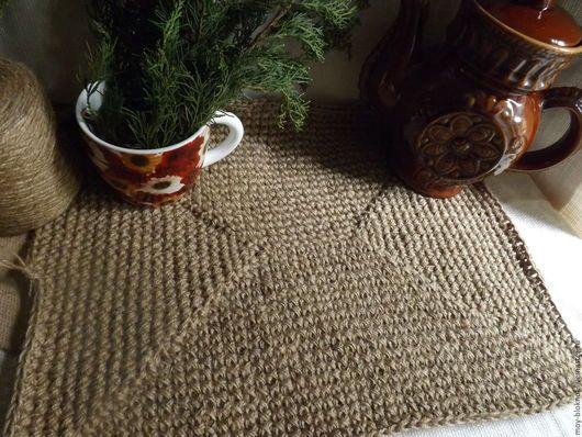 Ванная комната ручной работы. Ярмарка Мастеров - ручная работа. Купить Джутовый толстый коврик для ванной,вязанный коврик,джутовый коврик. Handmade.