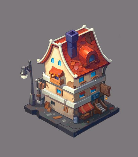 Old house on Behance