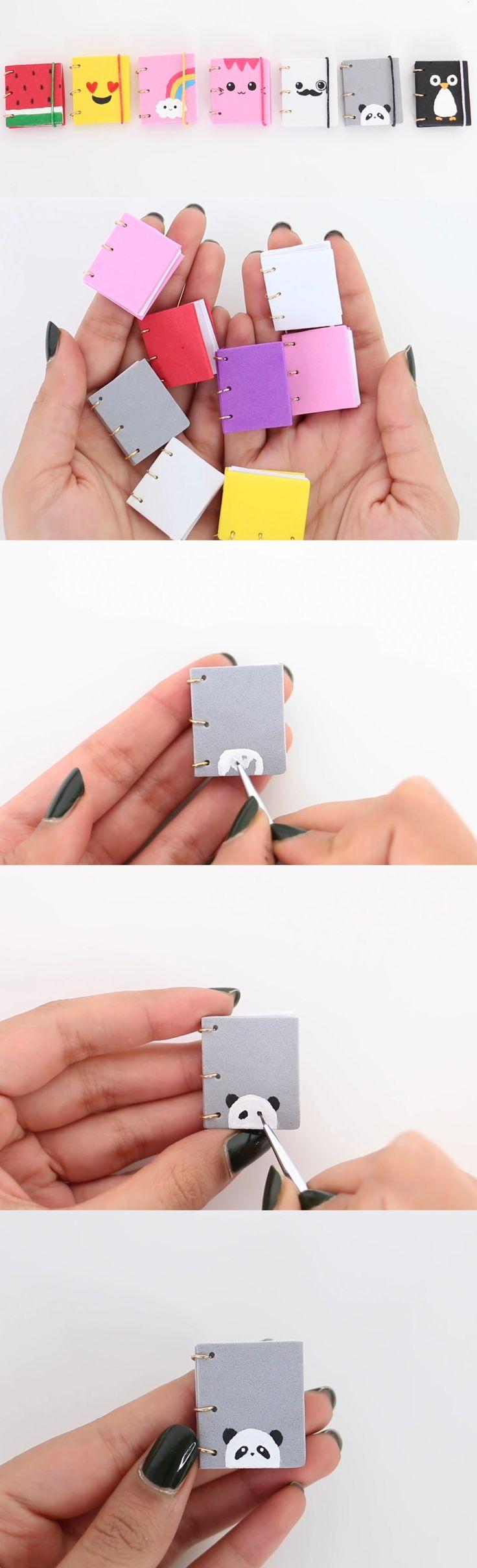 Mini Notebooks - petits carnets diy trop mignons, idéals pour les sacs à main/pochette, ou en porte clé