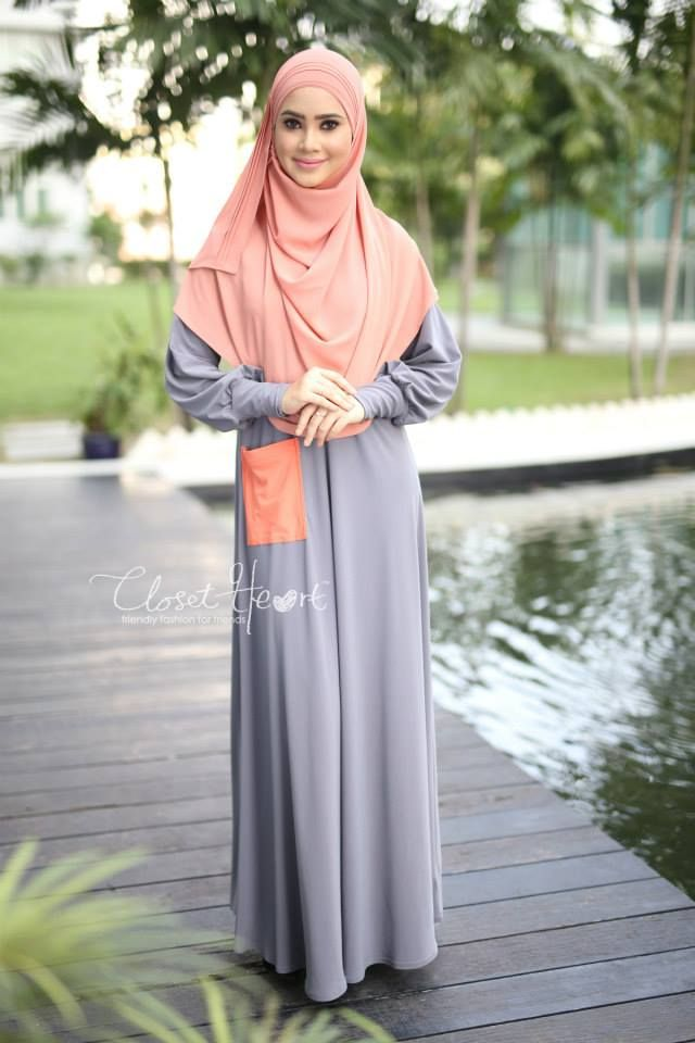 ALWANI JUBAH  CODE : CHJAL 182 AVAILABLE SAIZ (S,M,L & XL ) Color: Grey pocket Orange  Material: Moss Crepe Price: RM139 (exclude postage)  RUMAISA PLEATED SHAWL (READY STOCK) Code: DHRPS 010 Color: Light Peach  Material: Georgette Chiffon  Price: RM55 (exclude postage)  *kindly PM us to purchase. tqvm