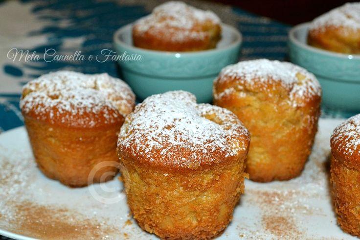 Muffins+con+le+mele+al+profumo+di+cannella+senza+burro