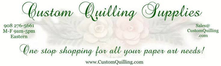 Custom Quilling Supplies Paper Filigree, Tools, & Punches