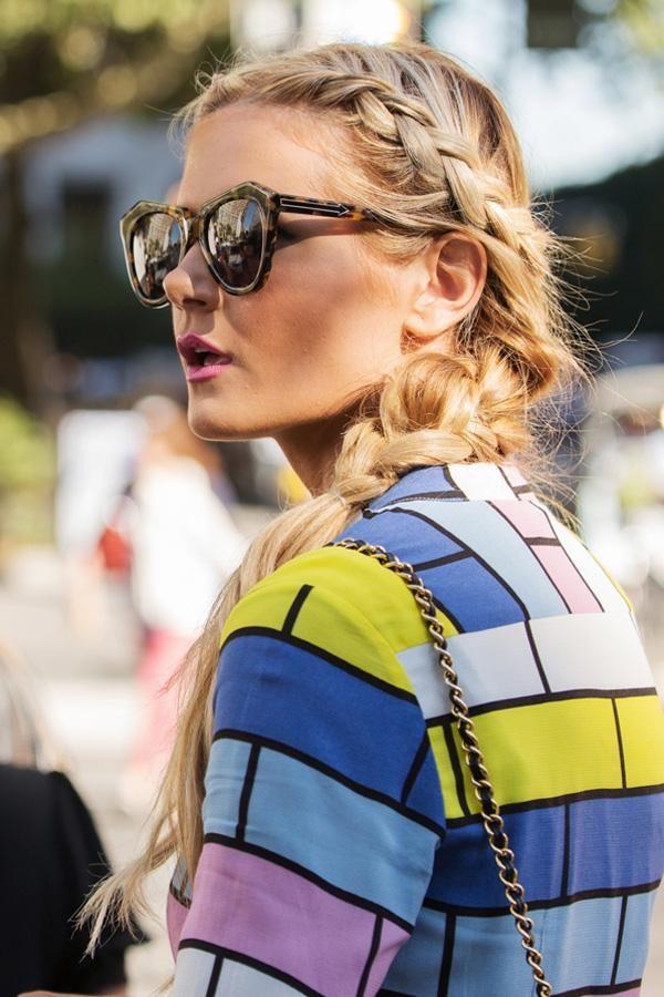 braidsFrench Braids, Fashion Weeks, Hairstyles, Street Style, Beautiful, Hair Style, Side Braids, Karen Walker, Braids Hair