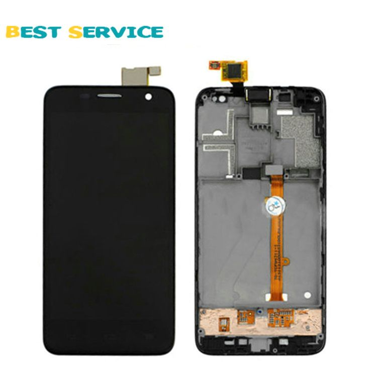 100% Baru untuk Alcatel One Touch Idol Mini 6012 6012D OT6012 Layar LCD Display + Layar Sentuh Digitizer Perakitan dengan Bingkai Hitam
