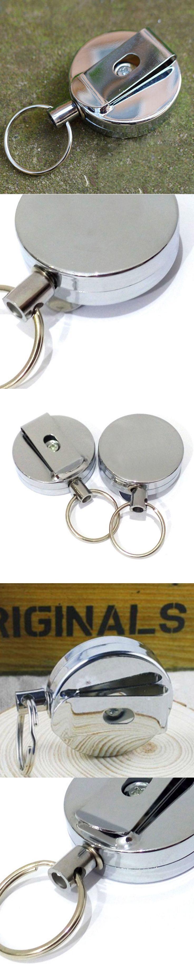 2016 hot sale Metal car key holder key bag holder  Recoil Key Ring Belt Clip pendant for bag man keychain cover EyJb