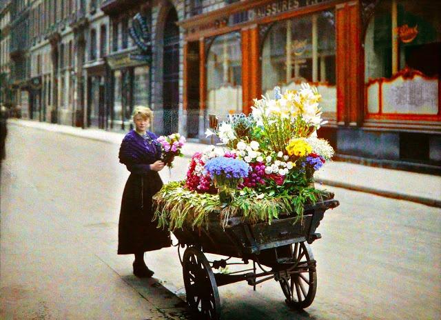 Autochrome of the 53th rue Cambon - 1918 - paris1914.com
