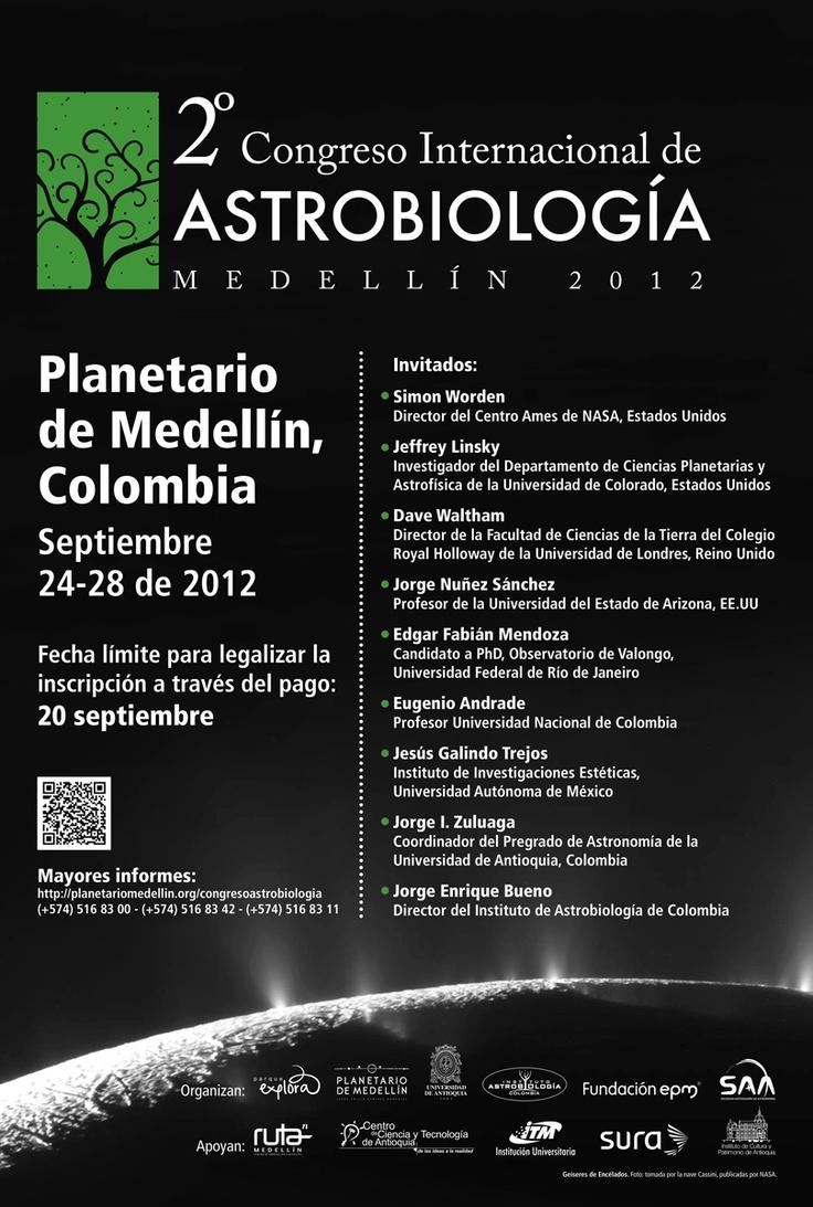 【  2º Congreso Internacional de Astrobiología  】  Planetario de Medellín.
