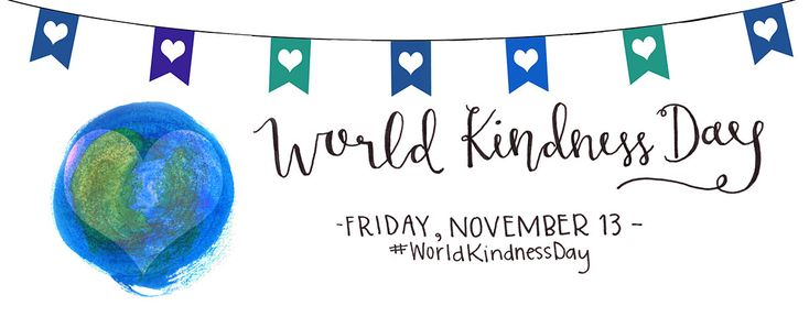 Celebrate World Kindness Day on November 13th, 2015
