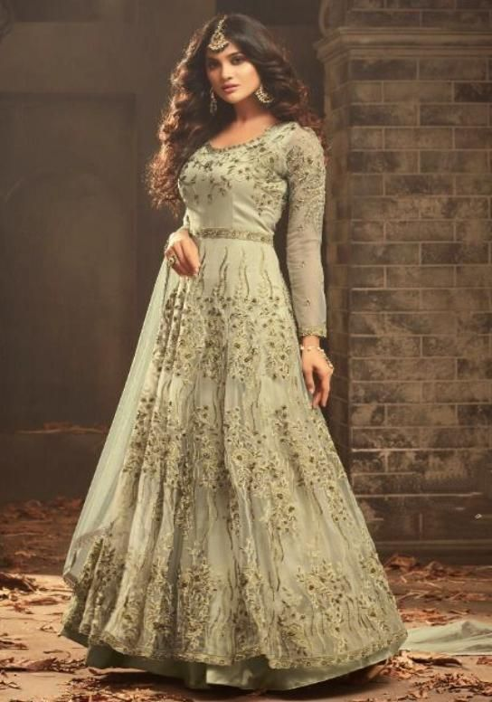 cd7d691702 Mohini Fashion Designer Hand Khat Work Anarkali Suit in 2019 ...