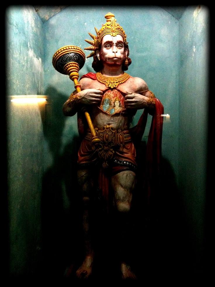 Hanuman statue at Parmarth Niketan Ashram in Rishikesh