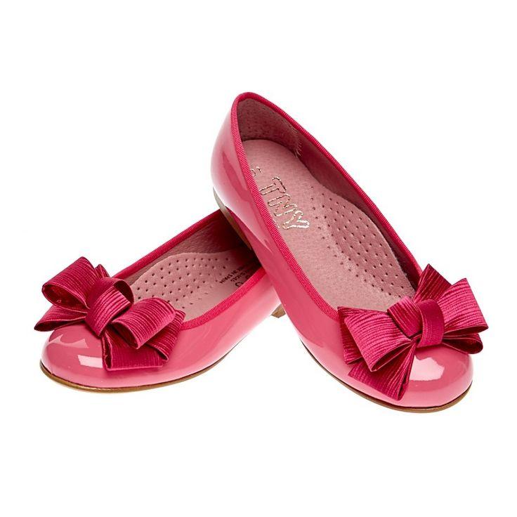 Туфли лаковые для девочки (фуксия)