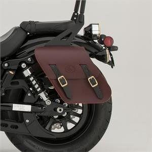Star Yamaha Accessories Rigid-Mount Leather Saddlebags (Oxblood) – Yamaha Bolt Models ('14-newer)