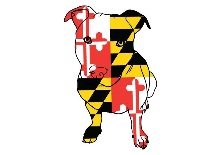 Maryland Flag Pitbull Vehicle Decal Pitbull Car Decal Etsy In 2020 Maryland Flag Decal Maryland Flag Car Decals
