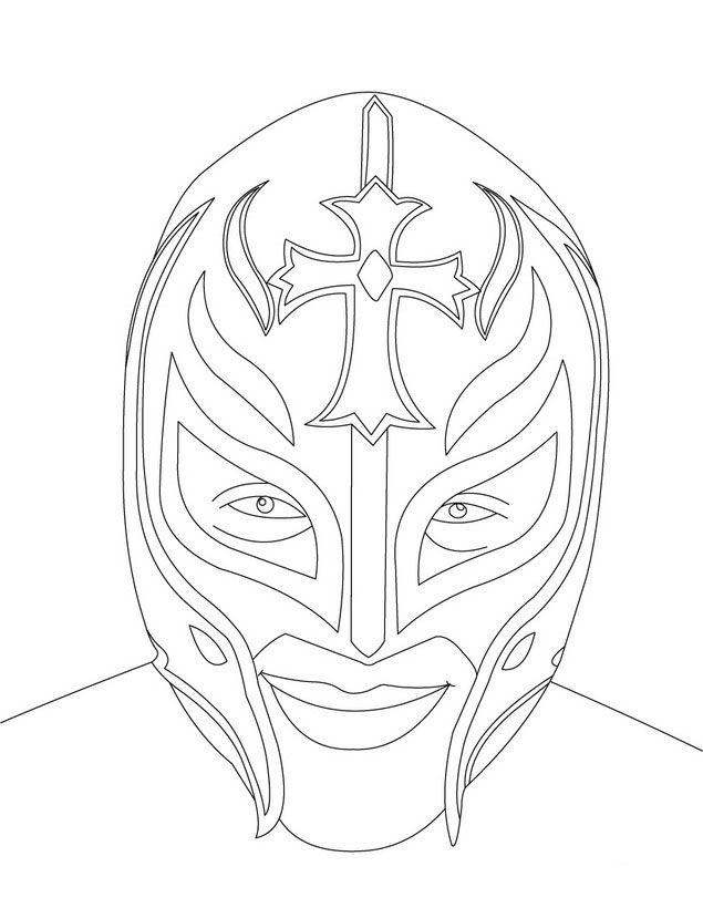 wrestling rey mysterio coloring pages enjoy coloring