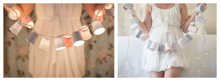 OMG! This is a great, chic and cute reusable DIY! DIY Decorative Paper Cups Garland Light You can use it for showers, nursery decor, weddingrehearsals,birthdays, dinner parties and more. I just l...