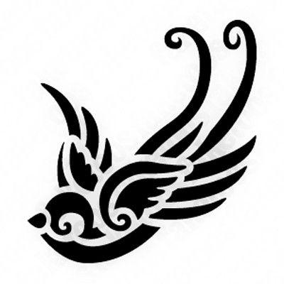 Swallow Bird Stencil | double click on above image to view full picture