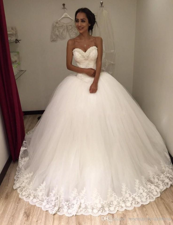 Ball Gowns 2016 Wedding Dress Sweetheart Bling Shinny Bridal Dresses Lace Appliques Tull TuTu