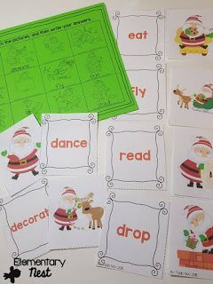 Christmas Parts of Speech-  December Activities and primary resources plus three FREEBIES- fun ELA, math, and social studies activities for students during the month of December