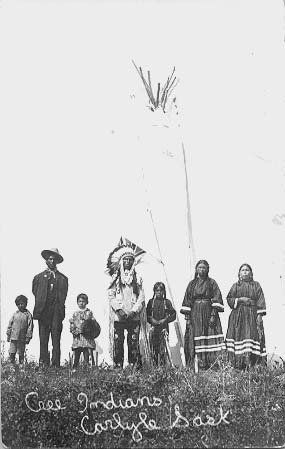 Cree family near Carlyle, Saskatchewan - 1913  I saw my first Pow Wow near White Bear Lake as a child in the 60's. The drums were mesmerizing.
