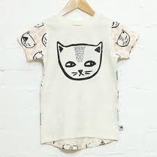 Milk & Masuki Short Sleeve Tee Cheeky Cats