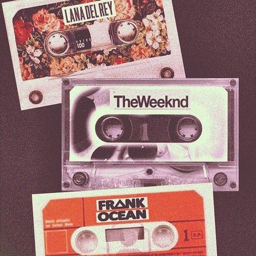 cassettes   lana del rey • the weeknd • frank ocean
