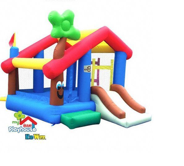 Inflatable Bouncy House Playhouse Bounce House Kids Play Kidwise Slide Jumper #Kidwise