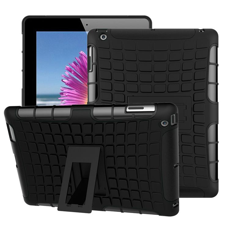 For Apple ipad2 3 4 Tab Case Heavy Duty Impact Hybrid Armor Kickstand Hard TPU PC Cover 9.7 inch With Shockproof For ipad2 3 4