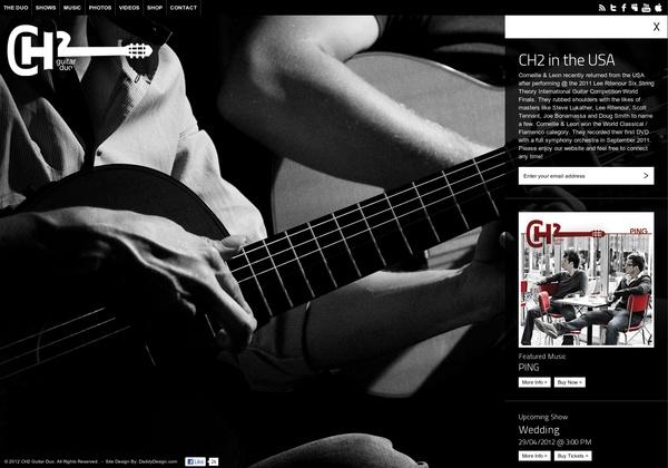 http://www.ch2guitarduo.com #webdesign #inspiration