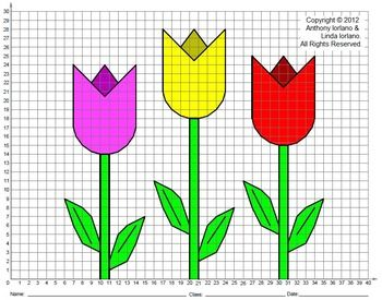 Tulips Spring Easter Mothers Day Coordinate Drawing