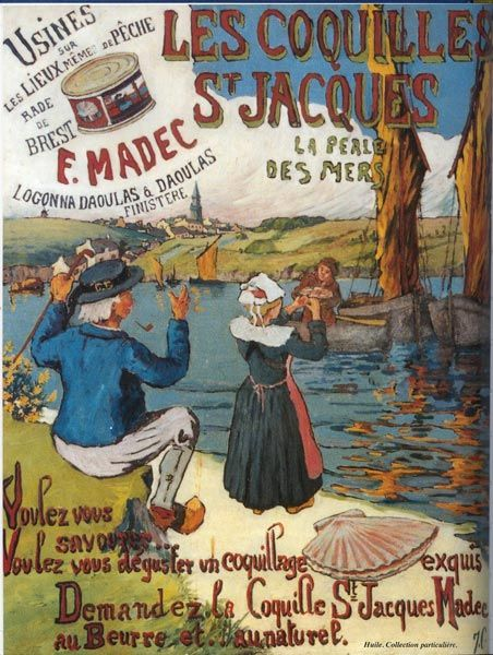 Les coquilles St Jacques - F. Madec - Logonna Daoulas - Finistère - Bretagne -