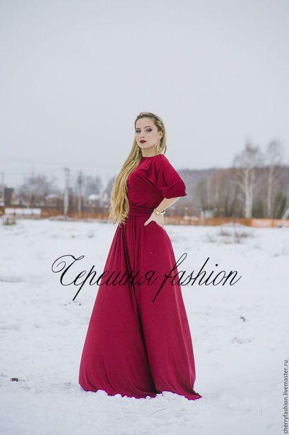 """Платья ручной работы. Ярмарка Мастеров - ручная работа. Купить Платье """"Эвелина"""" винного цвета. Handmade. Бордовый, Коктейльное платье"""