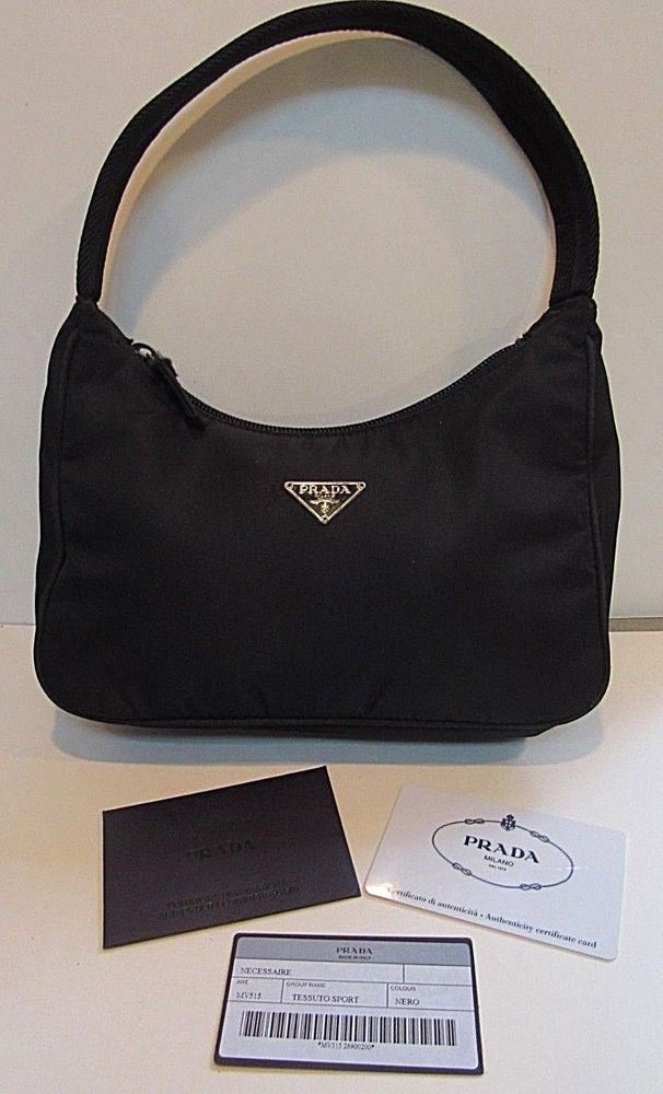 f2210c224c5d Authentic PRADA Mini Tessuto Sport Black Nylon Purse with Original Tags # Prada #ShoulderBag