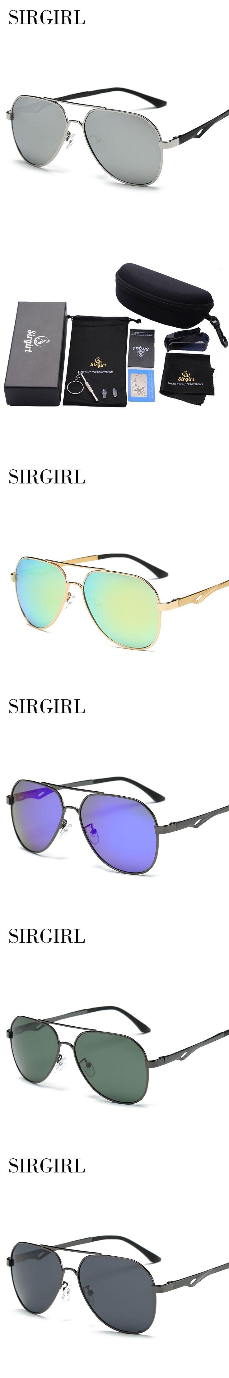 2017 HD Sirgirl Men Brand Logo Luxury Driving Pilot Polarized Sunglasses Sun Glasses Aluminum Magnesium Alloy oculos de sol male