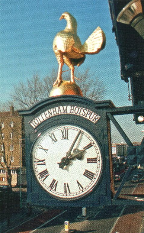 The famous Cockerel on the Clock White Hart Lane